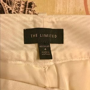 The Limited Off-White Ankle Trousers Size 4